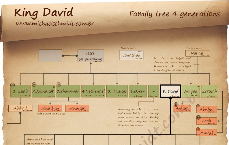Banner crop of the King David Family tree 4 generations