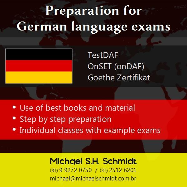 More information about preparation classes TestDAF, OnSET and Goethe Zertifikat