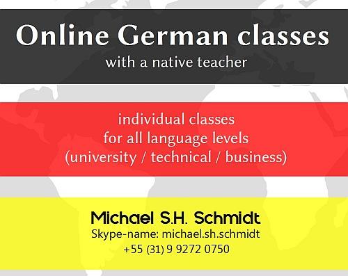 Online German classes with native teacher