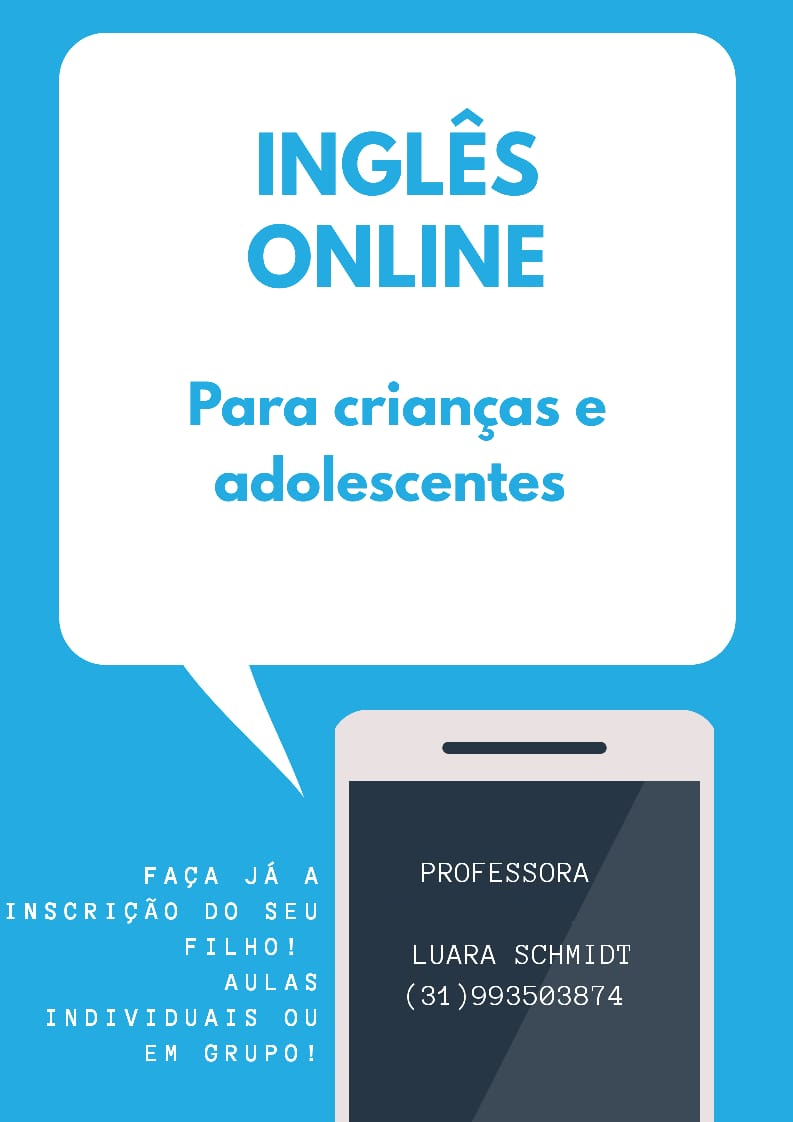 banner Inglês online para crianças e adolescentes